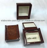 Forma especial de acabado brillante de madera con el caso de madera Woodpaper Jewellry