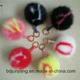 Pompom elegante della pelliccia per la catena chiave della pelliccia di Fox degli accessori della sfera della pelliccia di Keychain POM Poms