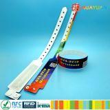 Bracelet en plastique d'IDENTIFICATION RF de billet remplaçable d'événement pour Waterpark