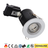 Diodo emissor de luz Rated Downlight da ESPIGA do incêndio mutável preto de Dimmable GU10 da moldura do cromo