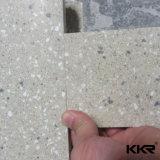 Pérola Corian de superfície contínuo branco do painel de parede de pedra