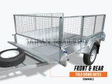 Lourd galvanisé par 8X5 de remorque de rampe de maille avec la cage libre
