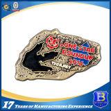 柔らかいエナメルが付いている昇進の円形の金属の硬貨は満ちた(Ele-C008)