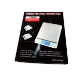 Hoge Precisie 2000g/0.1g LCD de Digitale Schaal van de Keuken van de Zak