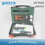 Medidor de pH portable de la alta exactitud con Atc (pH-8414)