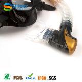 Mascherina di immersione subacquea della Cina della mascherina di immersione con bombole di vetro Tempered di prezzi bassi ed insieme della presa d'aria