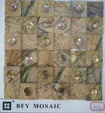 Mosaico de mármol mezclado cristalino del diseño especial para el azulejo de la pared (FYSK118)