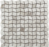 建築材料の石のタイルのカラーラの白いヘリンボン大理石のモザイク(FYSC396)