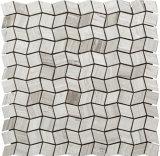 Baumaterial-Stein-Fliese-Carrara-weißes Marmormosaik (FYSC396)
