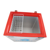 Congelador aberto de aquecimento espumado engrossado da caixa da porta da parte superior da camada único