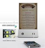 La Banca chiara di potere del telefono mobile della caffetteria del LED 4-USB 13000mAh