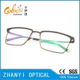 Spätester Entwurf Voll-Rahmen Titanbrille Eyewear optische Glas-Rahmen (9324)