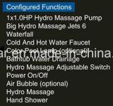 STAZIONE TERMALE indipendente rotonda della vasca da bagno di 1350mm (AT-001)