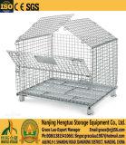 鋼板ベースが付いている鋼線の網の容器