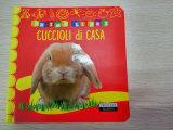 Libro barato de la tarjeta de impresión de la alta calidad profesional del servicio para el aprendizaje de los niños