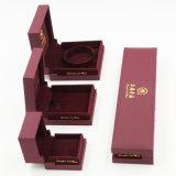 최신 판매 우수 품질 PVC 플라스틱 우단 보석함 (J51-E1)