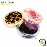 Bolsillo barato del metal de la dimensión de una variable redonda/espejo cosmético para el regalo promocional