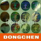 Etiket van de Sticker van het Broodje van de Cirkel van het hologram het Zelfklevende