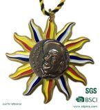 Médaillons en alliage de zinc personnalisés de sport de souvenir de thème de Triathlon