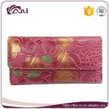Портмоне цветка оптовой продажи фабрики Китая, изготовленный на заказ бумажник кожаный цветка для женщин