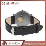인공적인 Leather Quartz 숙녀 손목 시계