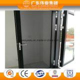 Porta a battenti di alluminio della rottura termica di 180 serie con lo schermo della zanzara