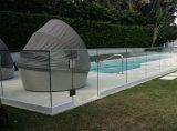 床-プールのための取付けられたUチャンネルのFramelessの緩和されたガラスの手すり