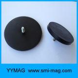 Magnetische Unterseite für Holding-Taxi-Dach-Lichter u. überzogene Potenziometer-Gummimagneten