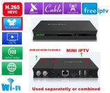 H. 265 casella ibrida della ricevente satellite IPTV del sintonizzatore di Hevc DVB-S2+DVB-T2/Cable