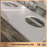 Da pedra branca de quartzo da pérola laje artificial de quartzo para a bancada