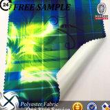Poliéster Tela Tela cruzada PU de la impresión Vía Recubrimiento funcional transpirable tela para la chaqueta al aire libre