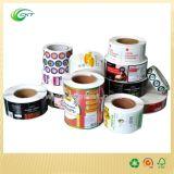 Etiquetas impressas costume do rolo com baixo preço (CKT-LA-671)