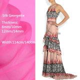 Grüne Drucken-Export-Qualität gedrucktes Silk Georgette-Gewebe für Kleid