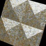 黄色いリップのモップのシェルの不規則な三角形のモザイク