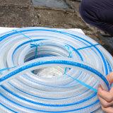 Mangueira reforçada trançada PVC Ks-10138ssg da água da mangueira da fibra