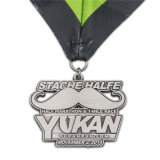 Maratona de prata antiga do metal da forma medalha Running da meia