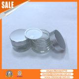 frasco de vidro dos cosméticos 15g20g30g50g com a tampa de alumínio para o creme de face