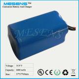 14.4V 2600mAh nachladbare Li-Ionbatterie mit PCM