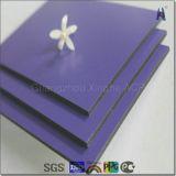 Comitato composito di plastica di alluminio spazzolato argento