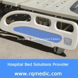 (CER, ISO) Doppelt-Kurbel manuelles (seitliche Schienen-Winkel-Anzeiger) Krankenhaus-Bett, medizinisches Bett