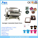 Swinger Clamshell Heat Press Machine Equipamento de transferência de calor de alta pressão