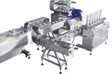 Lijn van de Machine van de Verpakking van de Machine van de Verpakking van het Hoofdkussen van de Cake van de maan de Automatische