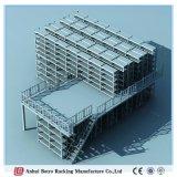 熱い販売の倉庫の記憶の頑丈な中二階パレットラック鋼鉄耳障りな産業サポートされたラッキング記憶