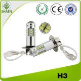 Lumière de regain du CREE DEL du H3 80W de haute énergie