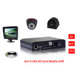 Certificate를 가진 Monitor를 가진 Camera를 가진 3G 4CH Mdvr /School Bus Mobile DVR