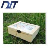 昇進の透過カバーカスタムロゴの木の茶ボックス