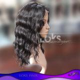 Peruca cheia brasileira do laço do americano africano do cabelo