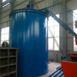 Espessador da polpa do minério para os concentrados e as pedras salientes que secam o uso