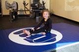 Nueva estera Finished del PVC del hogar del rodillo para el entrenamiento de la gimnasia de los cabritos