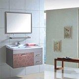Просто установленный стеной стальной шкаф ванной комнаты с полкой